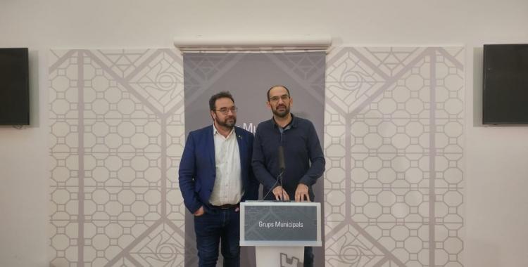 Maties Serracant i Juli Fernàndez, defensant la compra de l'Artèxtil | Ràdio Sabadell