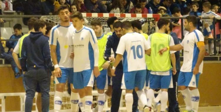 Imatge de l'equip del Club Natació Sabadell en un partit a Cal Balsach   Sergi Park