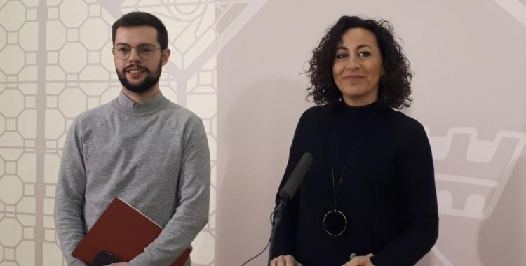 Montse González i Eloi Cortés, després de la Junta de Govern/ Karen Madrid