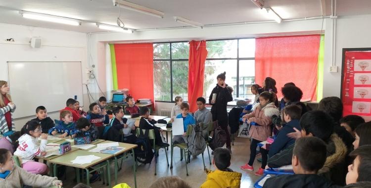Alumnes de l'Escola Samuntada | Twitter AMPA Samuntada