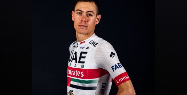 De la Cruz, amb el mallot de l'Emirates | UAE Team Emirates