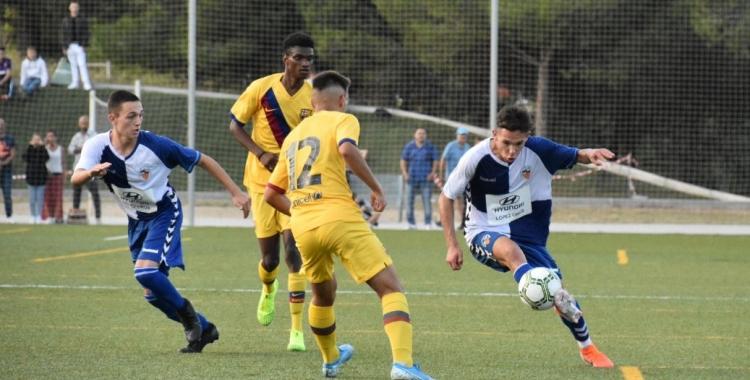 El Juvenil 'B' del Barcelona es va imposar (1-2) a Olímpia a la primera volta | Críspulo Díaz