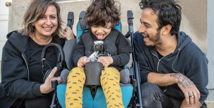En Biel i els seus pares avui a Can Capablanca | Roger Benet