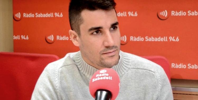 Edu Lorrio avui als estudis de Ràdio Sabadell | Pau Vituri