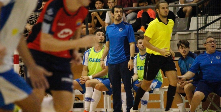 Borja Burgos, en el partit de la primera volta contra els maresmencs | Pau Vituri