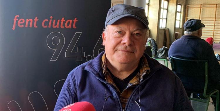 Antonio Recio, durant el programa especial d'El Cafè de la Ràdio'' a l'Escola Torreguitart/ Mireia Sans