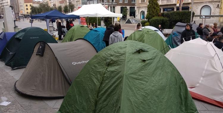 L'acampada popular del MES finalitza amb èxit de participació  Helena Molist