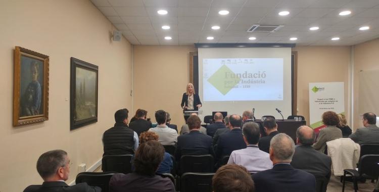 Matilde Villaroya, Directora General d'Indústria, ha donat la benvinguda als participants de la jornada | Ràdio Sabadell