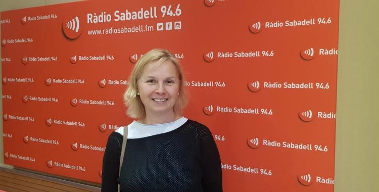 Judith Díaz explica que necessiten 40 voluntaris a Sabadell | Raquel Garcia