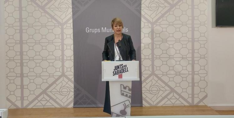 Lourdes Ciuró, portaveu de Junts per Sabadell, ha presentat la moció   Ràdio Sabadell