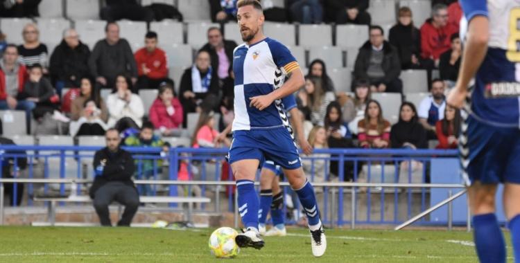 Ángel Martínez, en l'últim partit que va jugar a la Nova Creu Alta | Críspulo Díaz