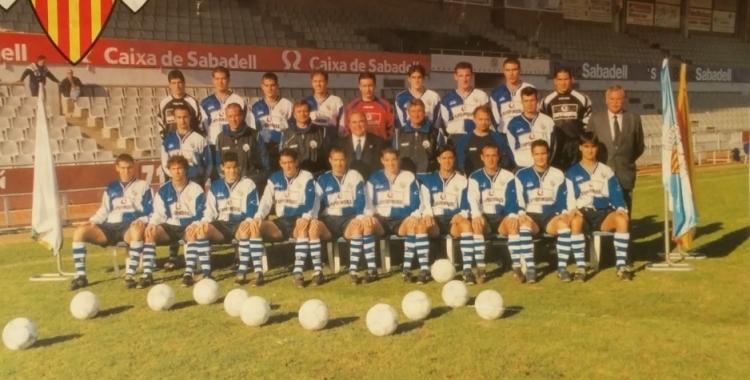 Imatge de la plantilla 1999-00 del Sabadell   Arxiu