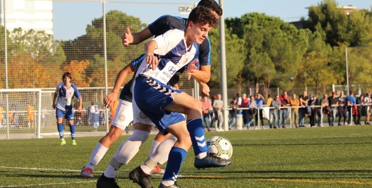 Xavi Laborde va signar un doblet a Tarragona   Adrián Arroyo