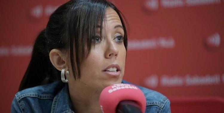 Marta Farrés en una entrevista a Ràdio Sabadell | Roger Benet