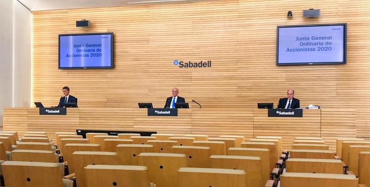 La Junta General d'Accionistes del Banc Sabadell s'ha celebrar telemàticament | Cedida