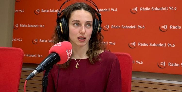 Emma Garcia avui als estudis de Ràdio Sabadell | Pau Vituri