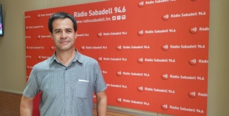 Gerard Vilanova als estudis de Ràdio Sabadell