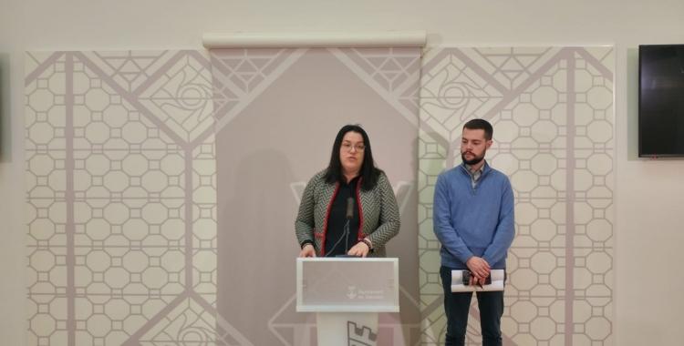 La regidora d'Urbanisme, Mar Molina, i el portaveu adjunt del govern, Eloi Cortés | Ràdio Sabadell