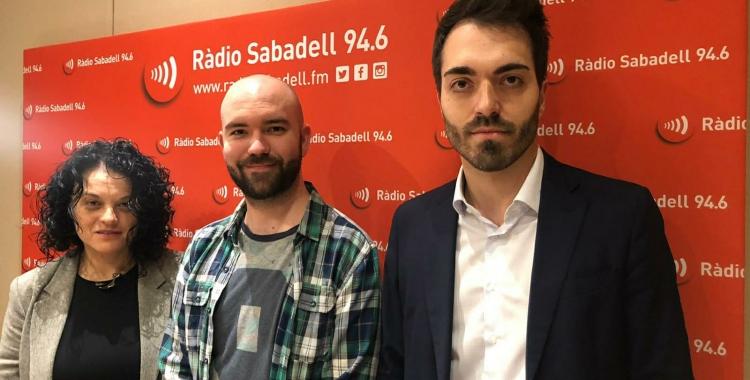 "Encarna Ruiz, Dani Hernández i Eduard Martínez, al programa ""Al Matí""   Raquel García"