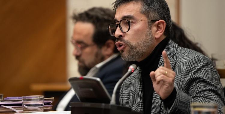 Gabriel Fernàndez, portaveu del grup municipal d'ERC, en un moment del ple | Roger Benet