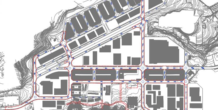 Mapa de la transformació de la zona   Cedida