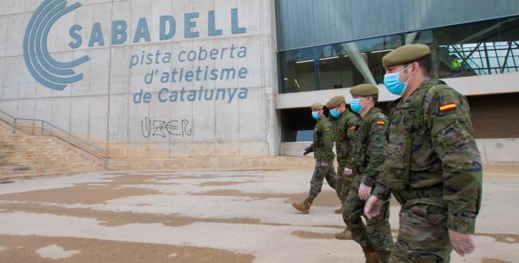 Membres de l'exèrcit espanyol a l'Hospital Temporal Vallès Sud | Roger Benet