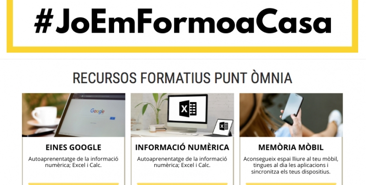Cal Molins posa recursos educatius en obert al seu lloc web | Captura