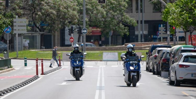 El tall de trànsit del cap de setmana passat a l'avinguda Concòrdia | Roger Benet