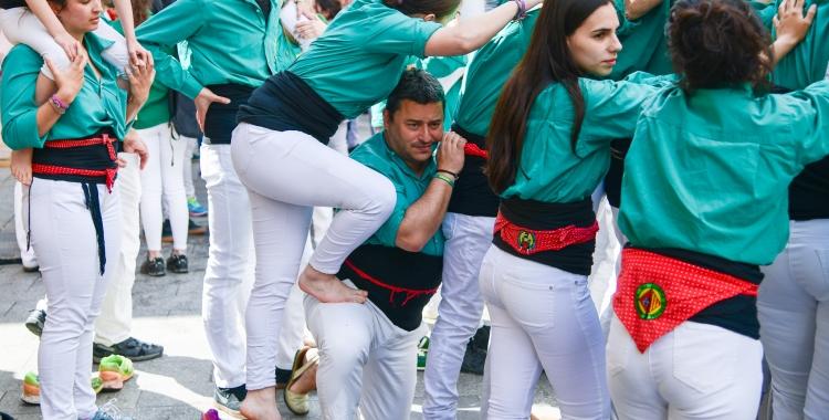 Joan Carles Sánchez, en una actuació dels Saballuts al 2019 | Roger Benet