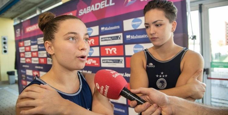 Ariño, juntament amb Sílvia Morell, en una entrevista de fa uns mesos amb Ràdio Sabadell   Roger Benet