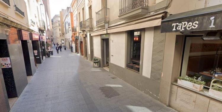 El carrer de l'Advocat Cirera, al centre, queda tallat al trànsit a partir del pròxim dilluns | Cedida