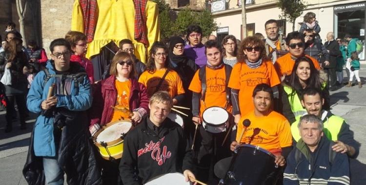 Membres d'Andi Down Sabadell en una activitat   Cedida