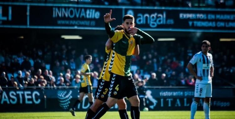 Aleix Coch, celebrant el gol que va donar els tres punts a Castàlia | Sendy Dihör