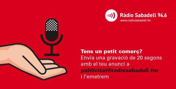 Ràdio Sabadell ofereix espais de publicitat gratuïta als comerços i empreses de proximitat