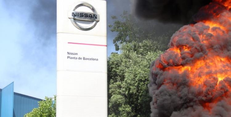 Protestes a la planta de Nissan de la Zona Franca aquest matí   ACN