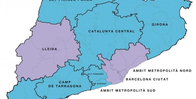 Nou mapa de les regions sanitàries de Catalunya | Departament de Salut