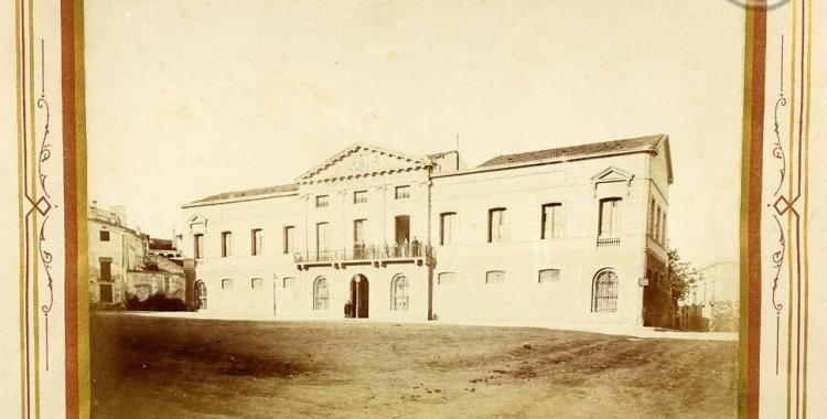 Imatge de la plaça Sant Roc l'any 1881   Arxiu Històric de Sabadell