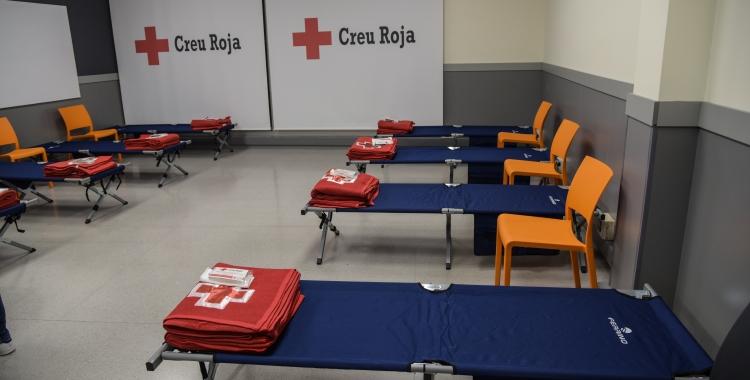 Imatge de l'espai que Creu Roja habilita habitualment a les seves dependències | Roger Benet (Arxiu)