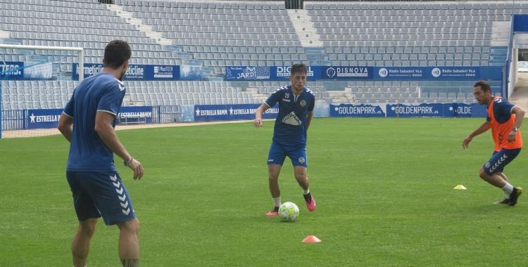 El Sabadell s'ha pogut entrenar amb grups de fins a 10 jugadors   CE Sabadell