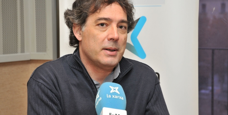 Xavier Diez (USTEC) als estudis de La Xarxa Girona   Cedida