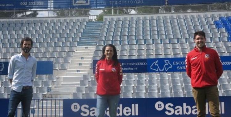Rodríguez, en la seva presentació al Sabadell | CE Sabadell