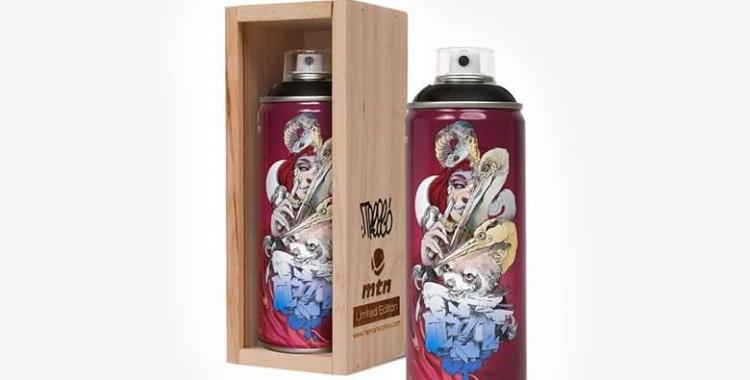 """Aquesta és la llauna de l'esprai dedicat a """"Treze"""" que està produint Montana Colors   Cedida"""