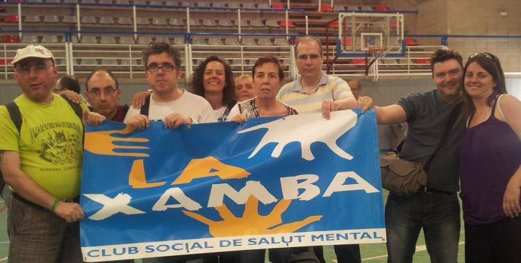 Usuàris del Club Social La Xamba el passat juny | Cedida