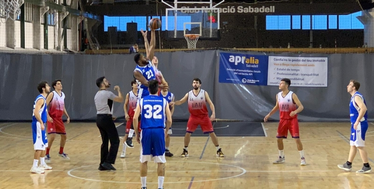 Imatge del derbi CNS-Sant Nicolau jugat enguany a Les Naus | Cedida