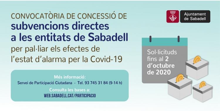 Campanya de subvencions de l'Ajuntament de Sabadell | Cedida
