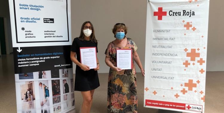 ESDii Creu Roja Sabadell signen un conveni per desenvolupar iniciatives de disseny social   Cedida