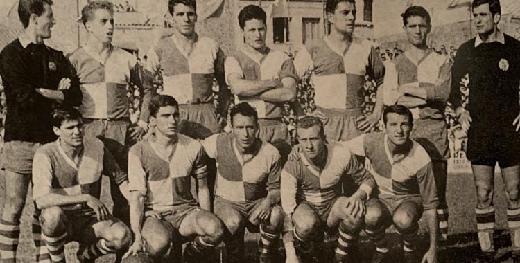 L'onze tipus del Sabadell aquell any   Cedida