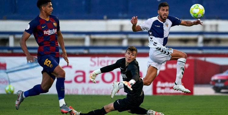 El decisiu gol de Néstor Querol que val un ascens   Pedro Salado
