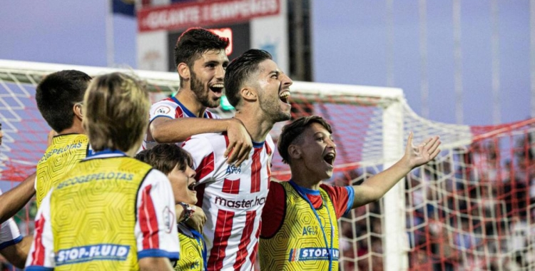 Domínguez, celebrant un gol aquesta temporada al Nuevo Mirador   Johan Ortiz