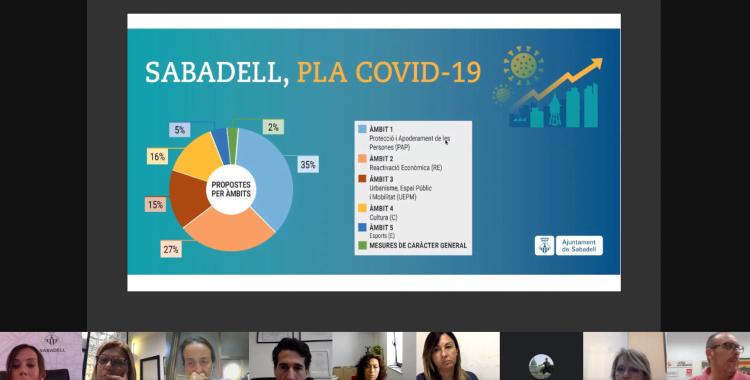 Diverses entitats han participat en la presentació del Pla Covid-19 aquest migdia | Ràdio Sabadell